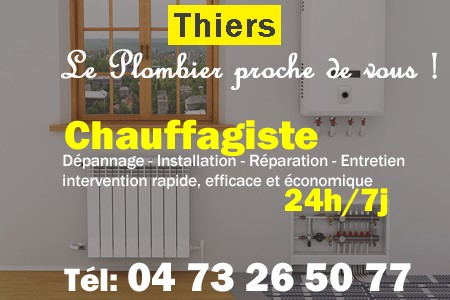 chauffage Thiers - depannage chaudiere Thiers - chaufagiste Thiers - installation chauffage Thiers - depannage chauffe eau Thiers