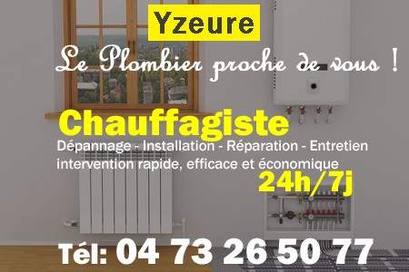 chauffage Yzeure - depannage chaudiere Yzeure - chaufagiste Yzeure - installation chauffage Yzeure - depannage chauffe eau Yzeure