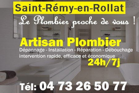 plombier saint r my en rollat d pannage 24h 7j 04 73 26 50 77. Black Bedroom Furniture Sets. Home Design Ideas